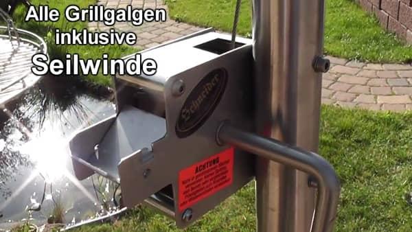 Schwenkgrills: Galgengrills mit Grillgalgen und Grillarm