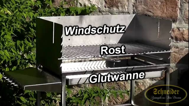 bbq grillwagen holzkohle befeuerung schneider grillger te aus idar oberstein. Black Bedroom Furniture Sets. Home Design Ideas