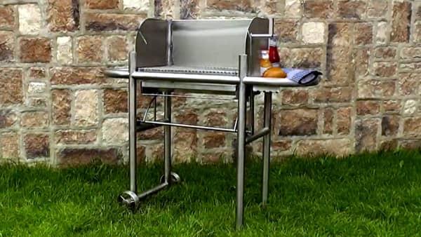 holzkohle grillwagen aus edelstahl schneider grillger te aus idar oberstein. Black Bedroom Furniture Sets. Home Design Ideas