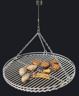 Grillrost für Feuerschale aus Eisen