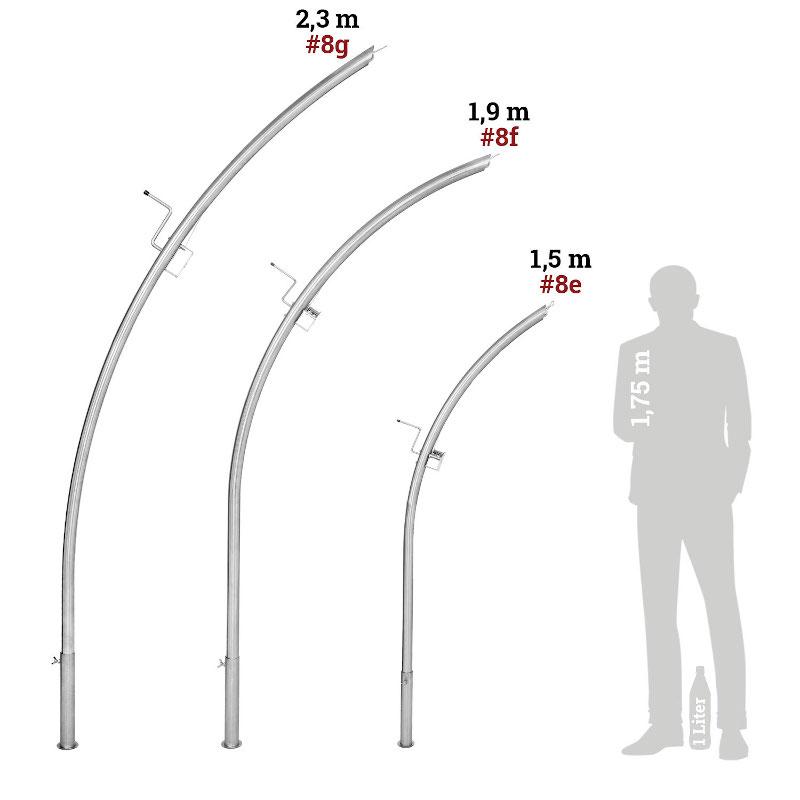 Grillgalgen C Edelstahl Höhe 150cm